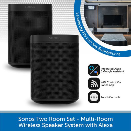 Sonos Two Room Set - Multi-Room Wireless Speaker System with Alexa
