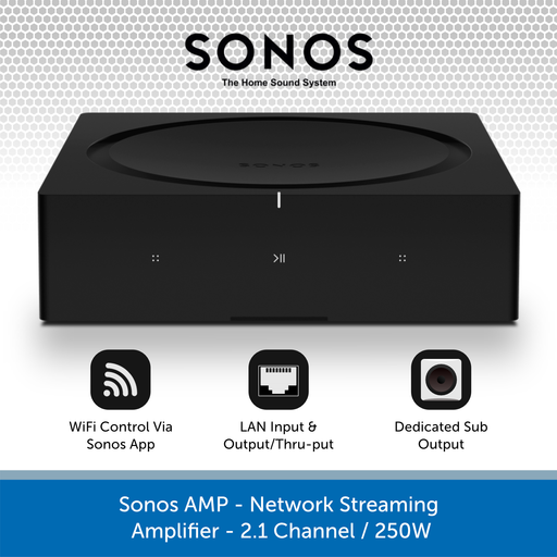 Sonos AMP - Network Streaming Amplifier - 2.1 Channel / 250W