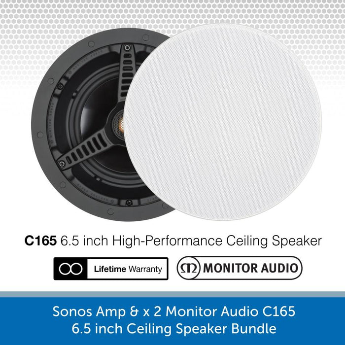 Sonos AMP & x 2 Monitor Audio C165 6.5 inch Ceiling Speaker Bundle