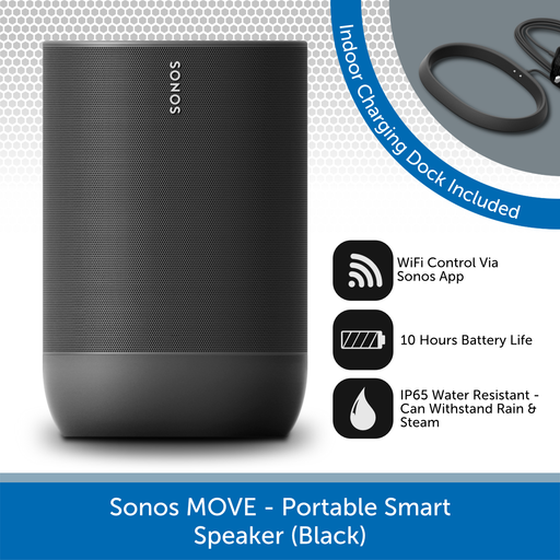 Sonos Move (Black) - Portable Smart Speaker