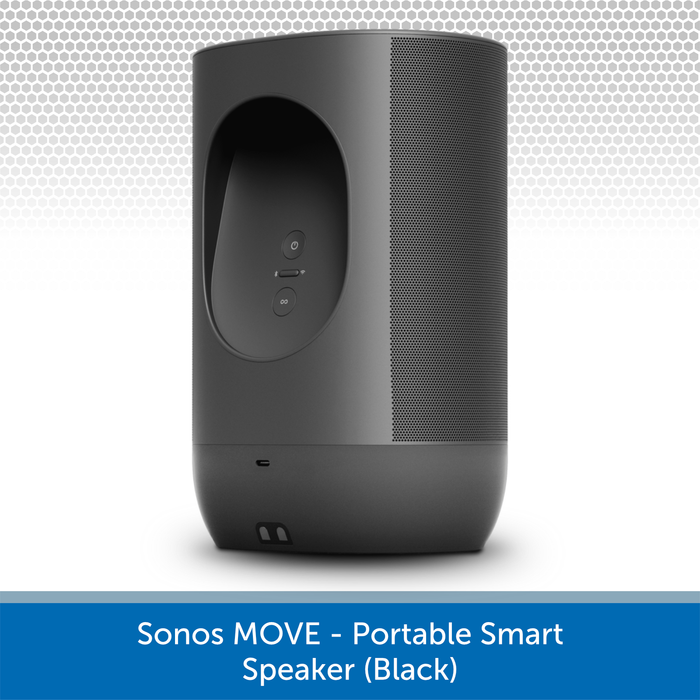 Sonos Move (Black) - Portable Smart Speaker Rear