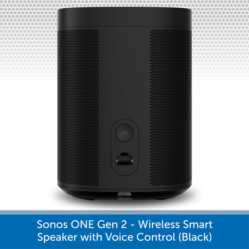 Sonos One Gen 2 - Wireless Smart Speaker with Voice Control REAR