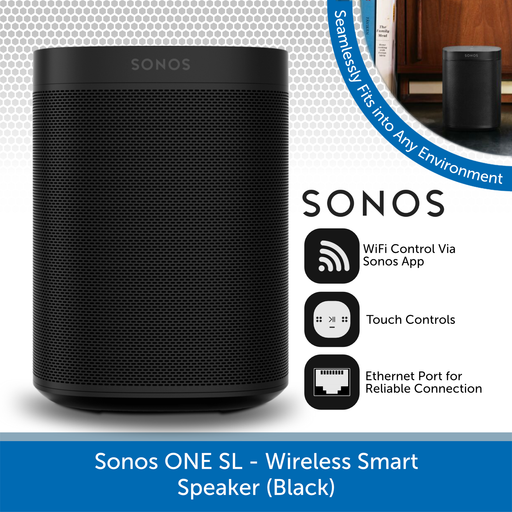 Sonos One SL - Wireless Smart Speaker (Black)