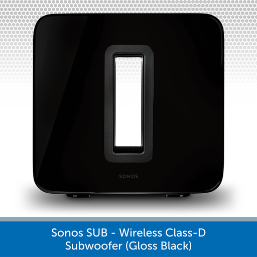 Sonos Sub (Black) - Wireless Active Subwoofer Front