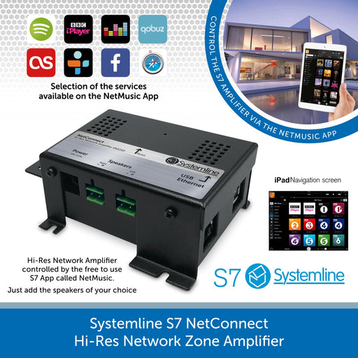 Systemline S7 | NetConnect Hi-Res Network Zone Amplifier