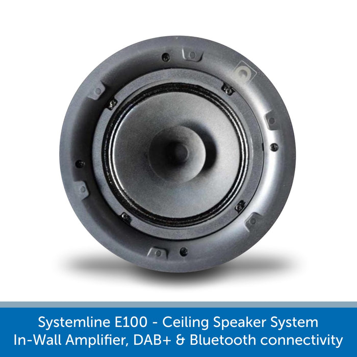 Systemline E100 - Ceiling Speaker System, In-Wall Amplifier, DAB Radio & Bluetooth connectivity