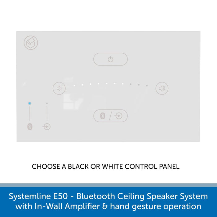 Systemline E50 - Bluetooth Ceiling Speaker System with In-Wall Amplifier & hand gesture operation