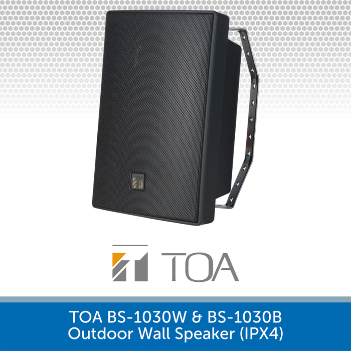 TOA BS-1030B High-performance Outdoor Wall Speaker BLACK