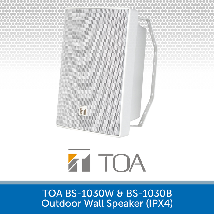 TOA BS-1030W High-performance Outdoor Wall Speaker WHITE