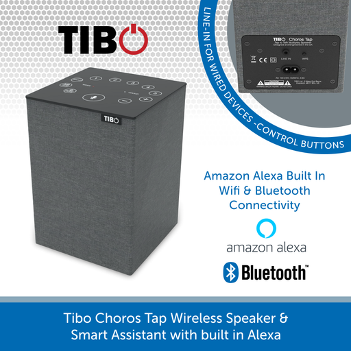 Tibo Choros Tap Wireless Speaker & Smart Assistant with built in Alexa