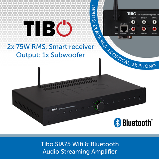 Tibo SIA75 Wifi & Bluetooth Audio Streaming Amplifier