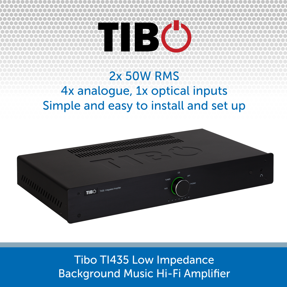 Tibo TI435 Low Impedance Background Music Hi-Fi Amplifier