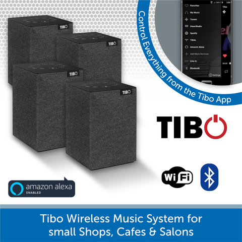Tibo Wireless Music System for small Salons, Cafes & Shops