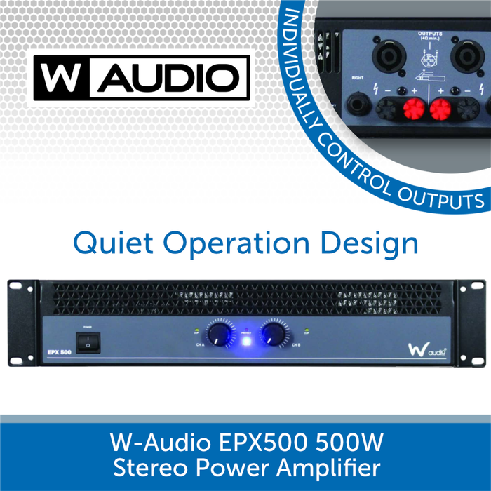 W-Audio EPX 500 500W Stereo Power Amplifier - An Affordable Commercial Install Solution