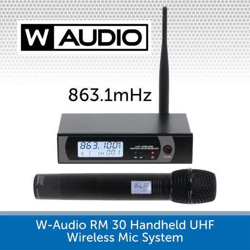 W-Audio RM 30 Handheld UHF Wireless Microphone System (863.1mHz)