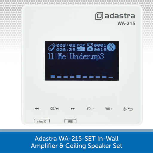 Adastra WA-215-SET In-Wall Amplifier & Ceiling Speaker Set