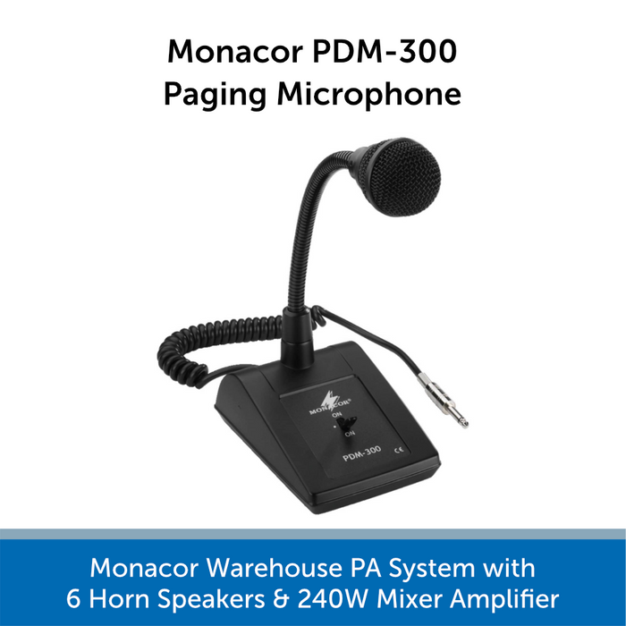 Monacor PDM-300 Paging Microphone