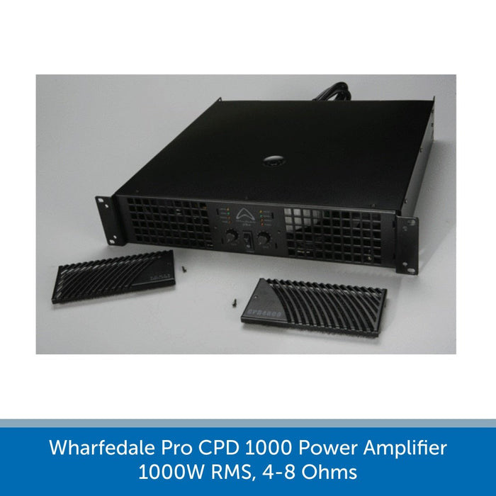 Wharfedale Pro CPD 1000 Power Amplifier, 1000W RMS, 4-8 Ohms