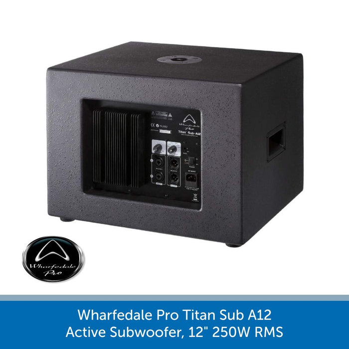 "Back of a Wharfedale Pro Titan Sub A12 Active Subwoofer, 12"" 250W RMS"