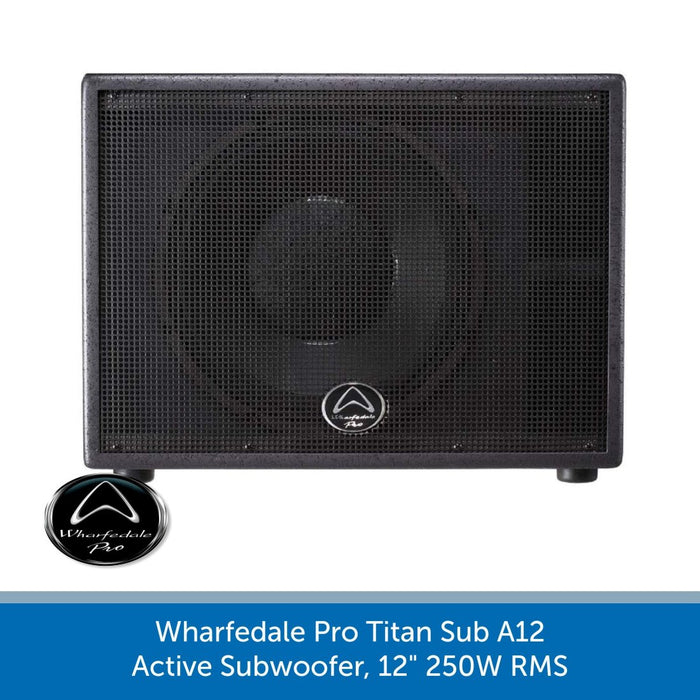 "Wharfedale Pro Titan Sub A12 Active Subwoofer, 12"" 250W RMS"