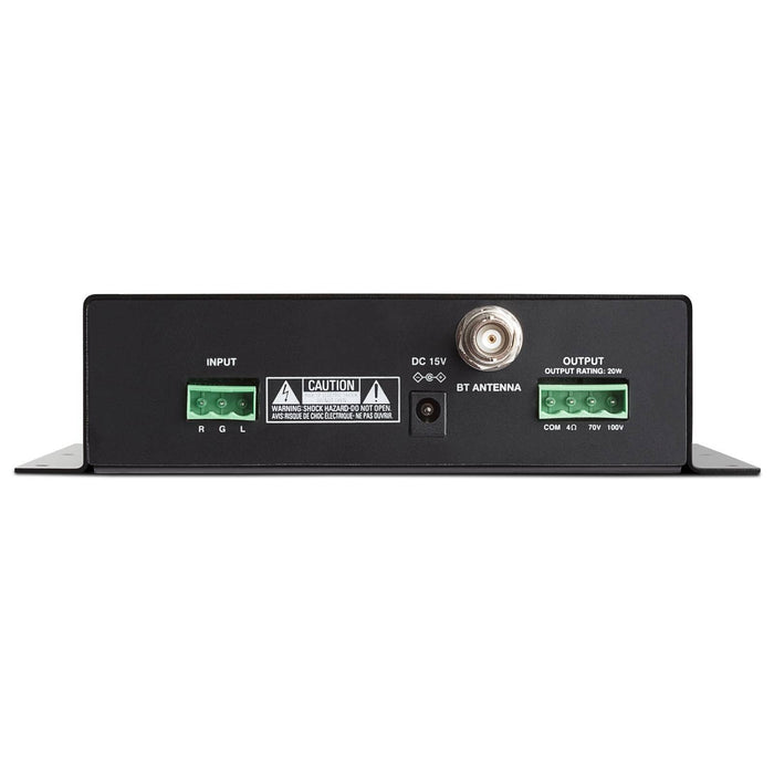 Rear Image of the Denon DN-200AZB Compact Bluetooth Amplifier with Class-D Amplification