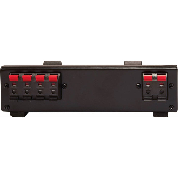 High-powered 2-way stereo speaker switch with On/Off button