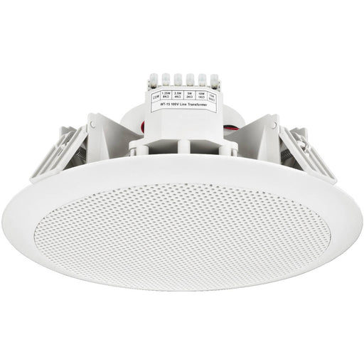 "Monacor EDL-158 8"" IP65 Rated Ceiling Speaker for Spa's, Wetrooms & Bathrooms - White"