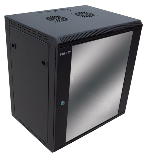 12U Wall-Mounting Rack Cabinet with Lockable Door (450mm or 600mm Deep)