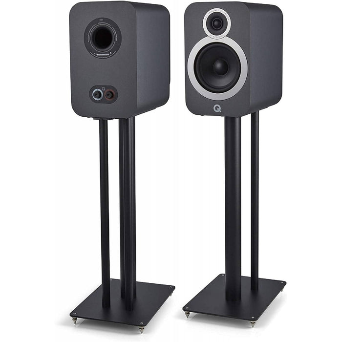 Q Acoustics 3030i Bookshelf Stereo Speakers, Graphite Grey (Pair)