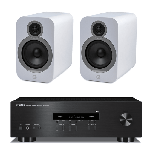Q Acoustics 3030i Bookshelf Speakers with Yamaha RS202D