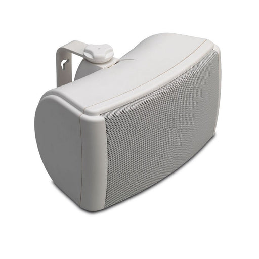 Q Install QI45EW Weatherproof On-Wall Outdoor Speaker in White (single)