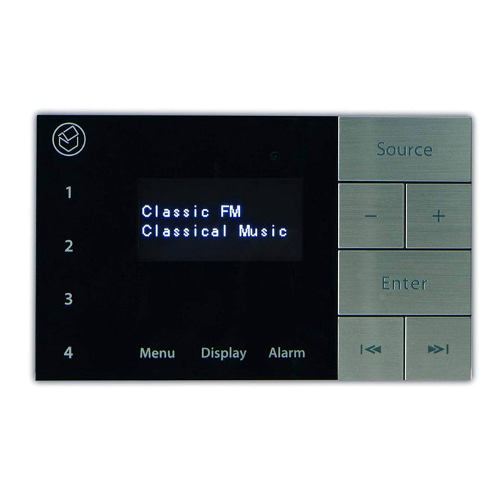 Systemline E100 In-Wall Amplifier Touch Panel with Bluetooth & DAB Radio