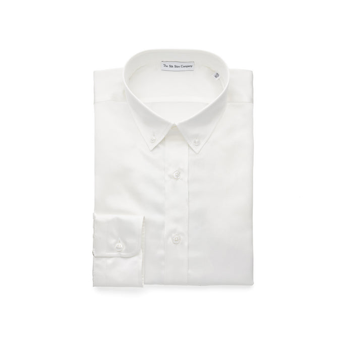 White Luxury Silk Cotton Shirt