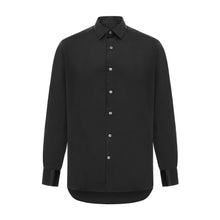 Black Luxury Silk Satin Shirt
