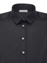 Black Luxury Silk Cotton Shirt