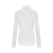 White Luxury Silk Satin Stretch Shirt
