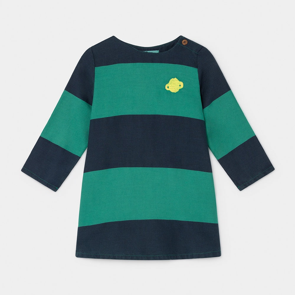 Big Stripe Baby Dress, Bobo Choses- Trapeze Kids