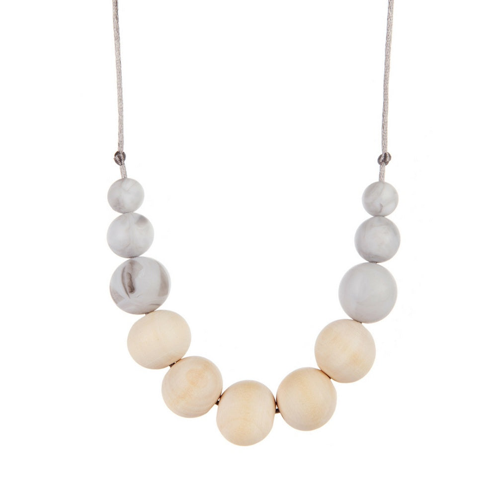 Marble Wood Teething Necklace, boochew- Trapeze Kids