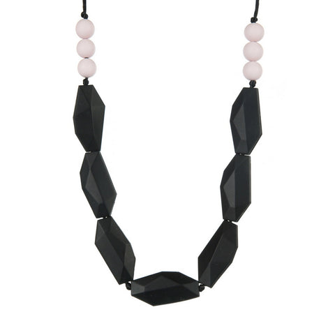 Smokey Pink Teething Necklace, boochew- Trapeze Kids