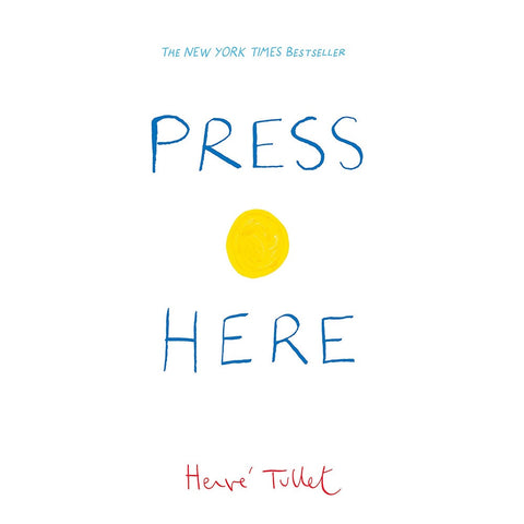 Press Here kids interactive hardback book by Herve Tullet