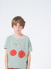Cherry Short Sleeve T-Shirt, Bobo Choses- Trapeze Kids