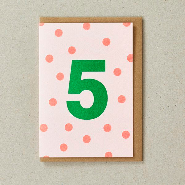 Number 5 Birthday Card