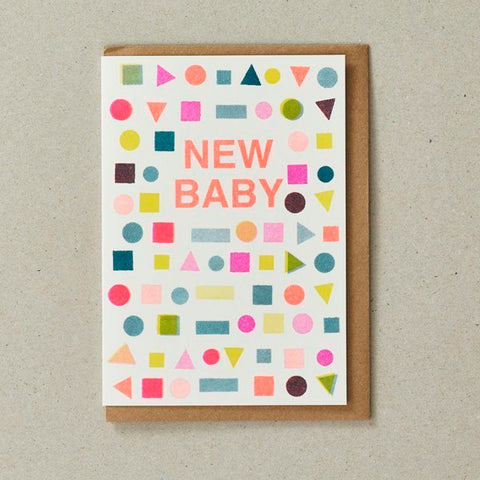 New Baby Shape Card