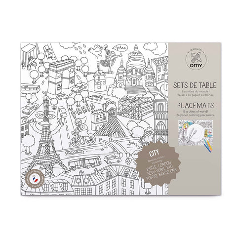 Colouring Placemats City, OMY- Trapeze Kids