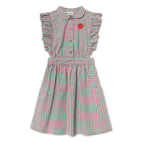 Vichy Ruffle Dress, Bobo Choses- Trapeze Kids