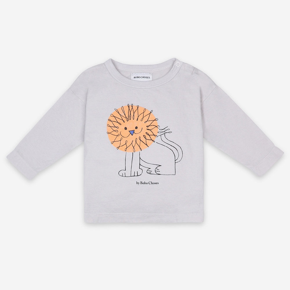 Pet A Lion Long Sleeve Baby T-Shirt by Bobo Choses