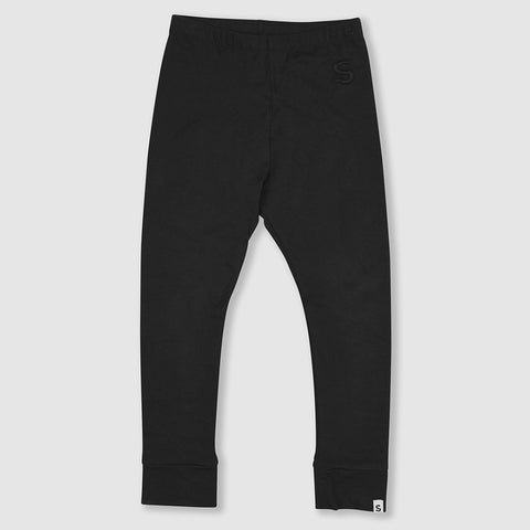 Plain  Black Legging, Small Stories- Trapeze Kids