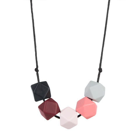 Tawny Pink Teething Necklace, boochew- Trapeze Kids