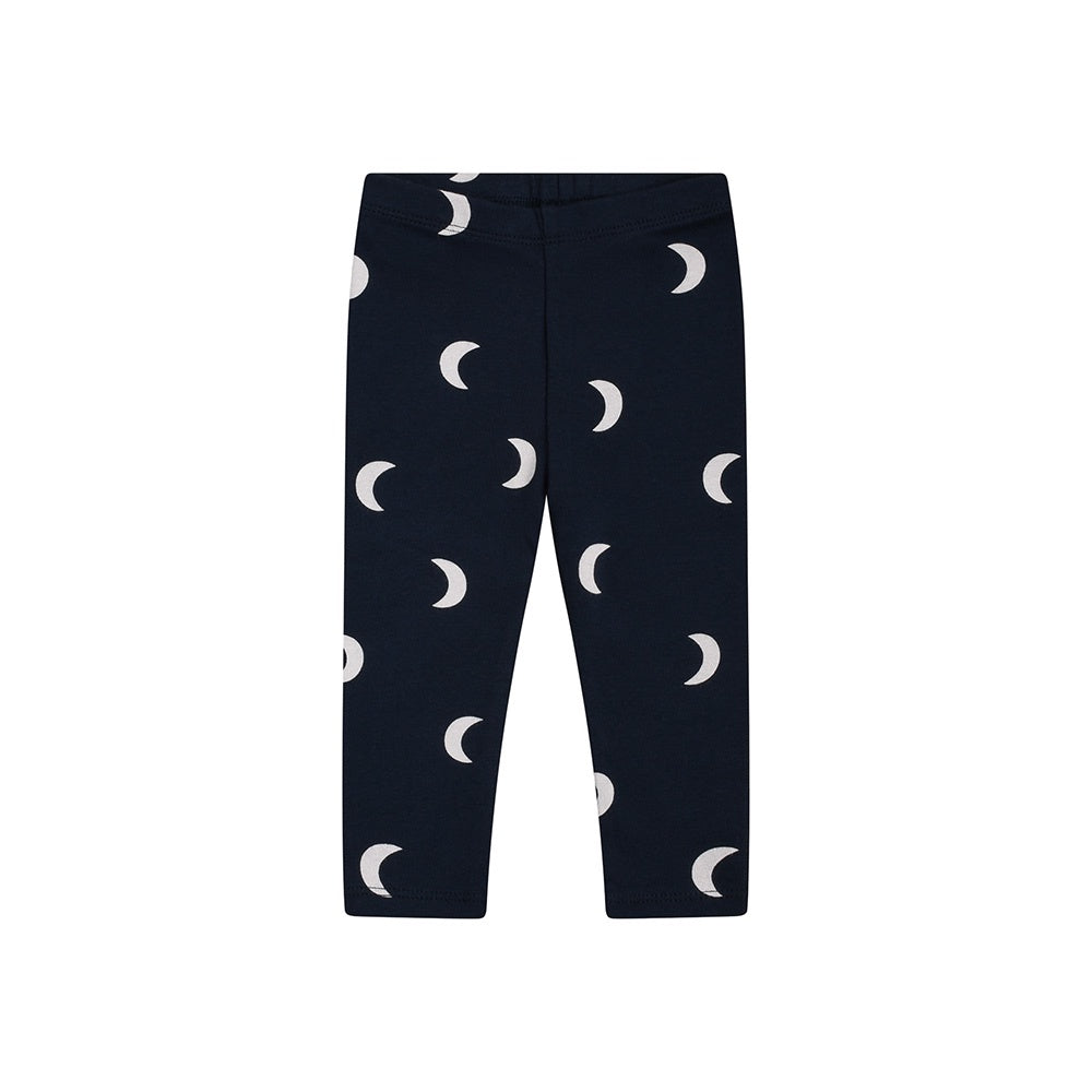 Navy Midnight organic cotton baby leggings by Organic Zoo