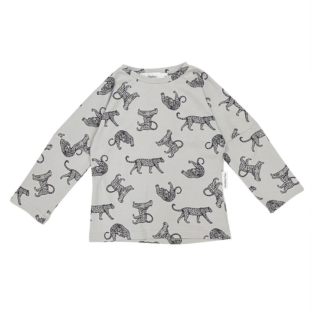 Grey Leopard T Shirt
